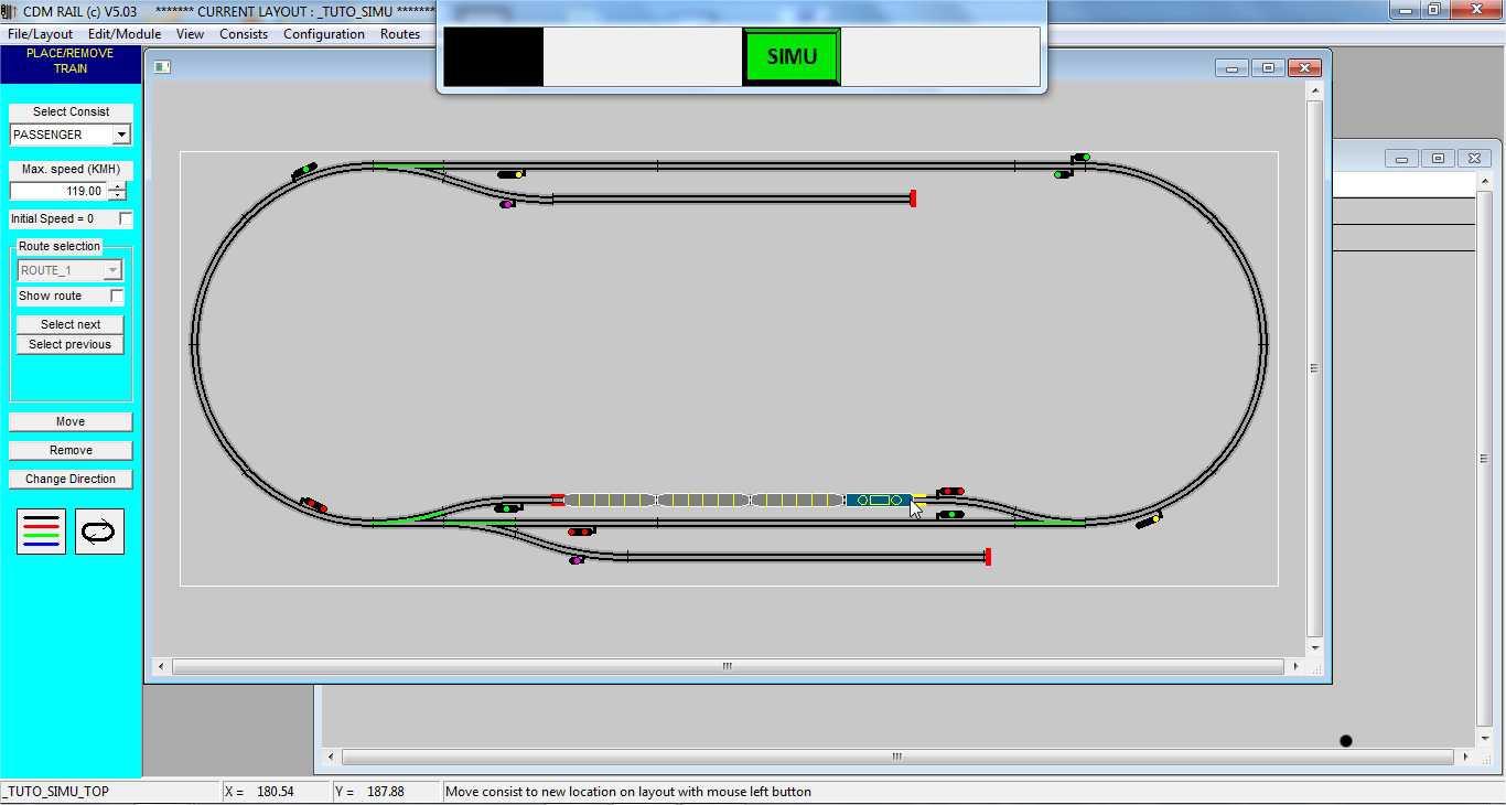 CDM-Rail: simulation tutorial step 4